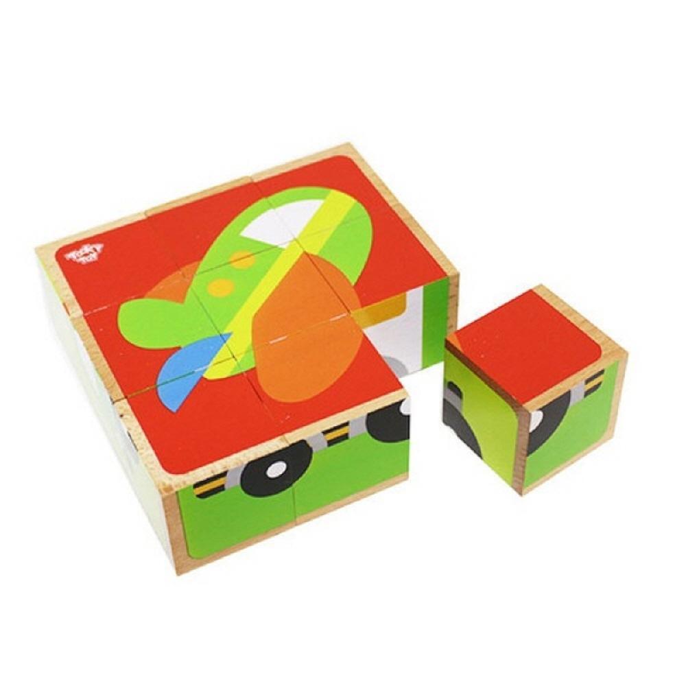 장난감 유아 학습 아동 놀이 교통 6면 큐브 퍼즐 아이 퍼즐 블록 블럭 장난감 유아블럭