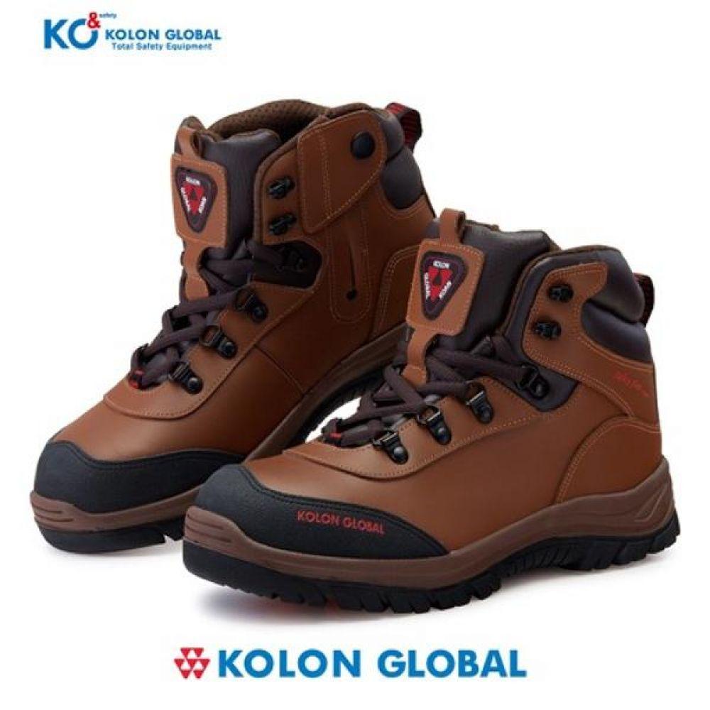 코오롱글로벌 K-302 6in 보통작업용 중단화 안전화 안전화 KOLONGLOBAL 코오롱글로벌 가죽안전화 지퍼안전화 지퍼타입 작업화