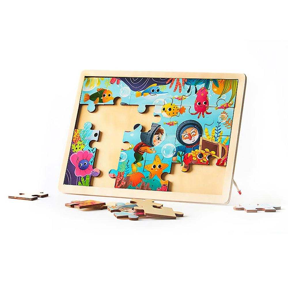 선물 유아 학습 아동 놀이 바다탐험 직소 퍼즐 24pcs 퍼즐 블록 블럭 장난감 유아블럭