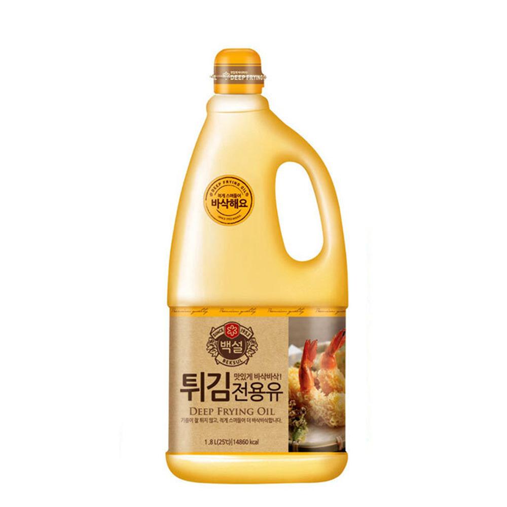 CJ 백설 튀김전용유 1.8L 식용유 기름 부침개 튀김 선물세트 명절선물세트 설선물세트 추석선물 오일선물세트