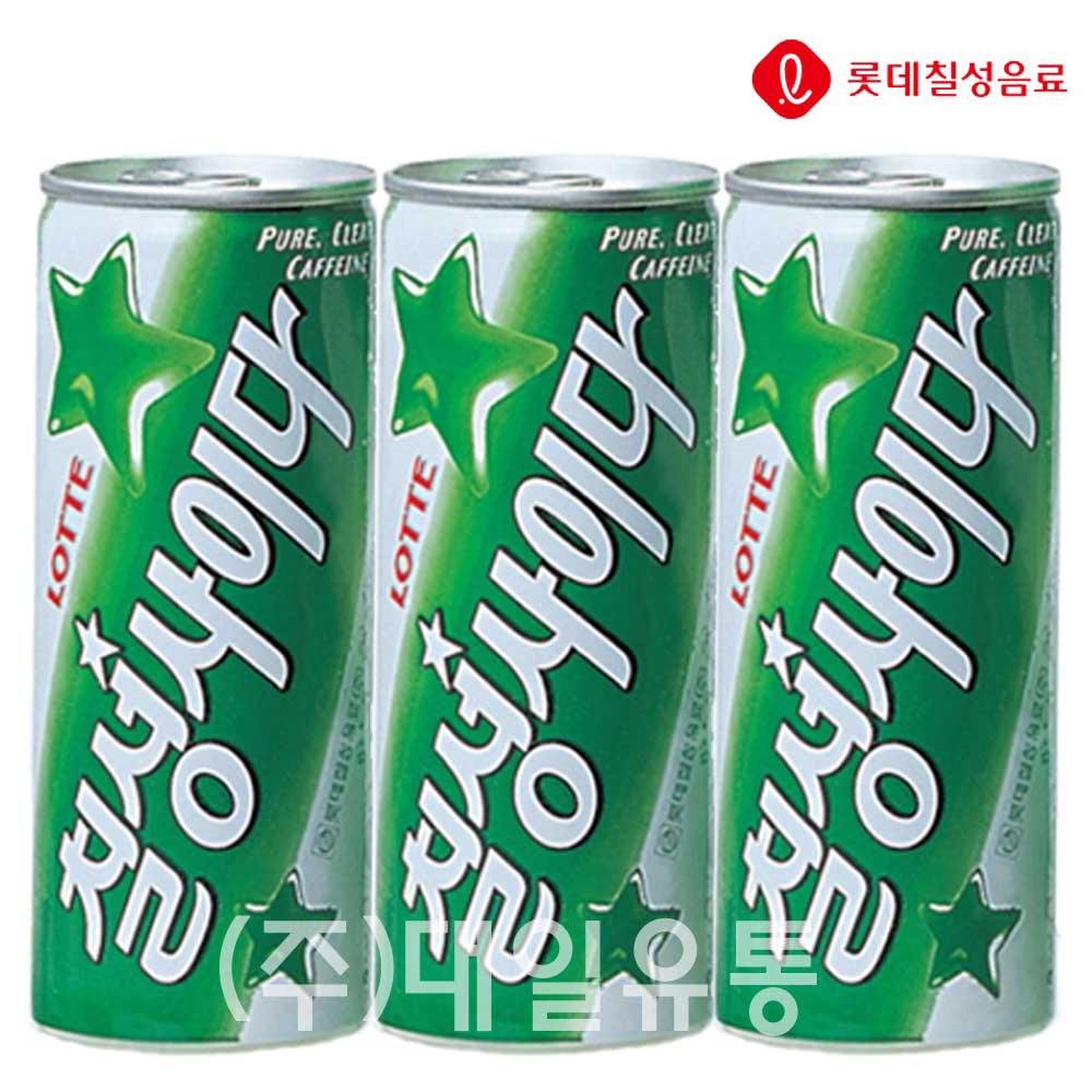 탄산음료 칠성사이다 캔 250ml X 30개 (일반용) 탄산음료 사이다 칠성사이다 업소용사이다 음료수