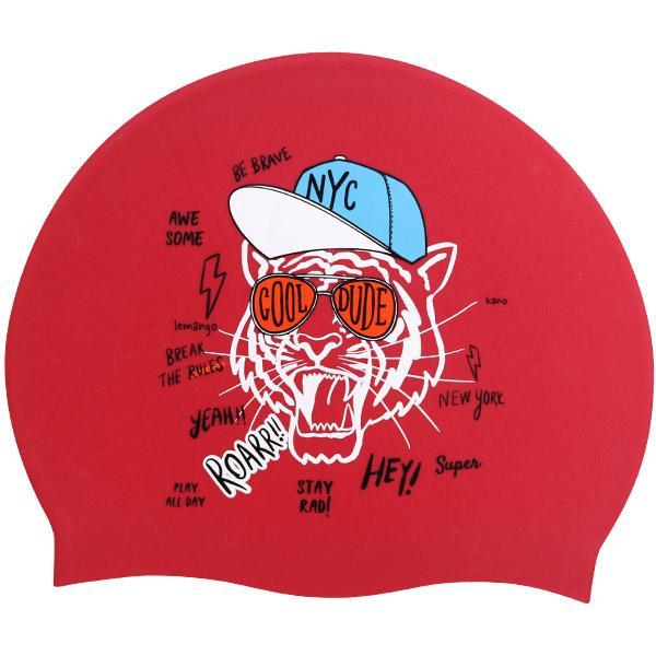 Kano-Red르망고 실리콘수모 수영모자 수영용품 수영모 수중운동용품 디자인수영모