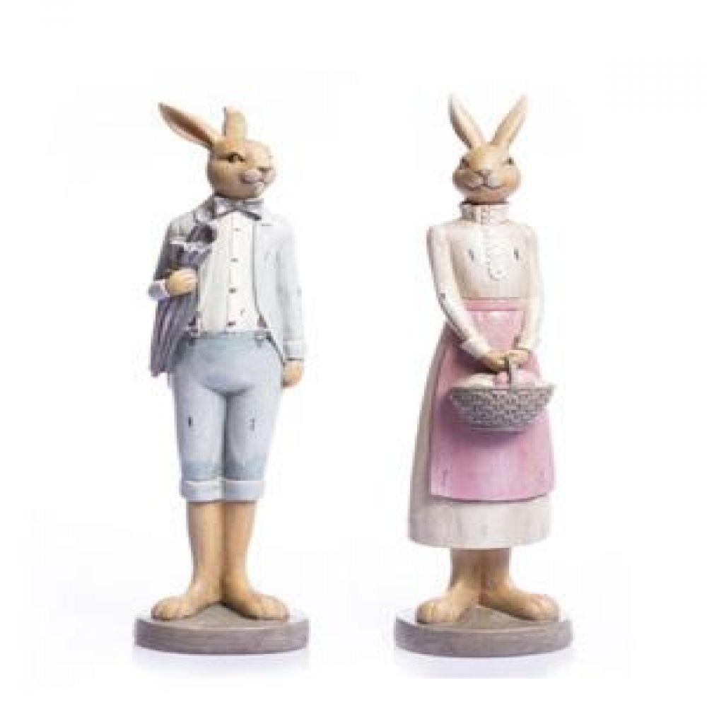토끼 부부 2p Set 장식인형 장식소품 인테리어소품 토끼장식품 인테리어장식품