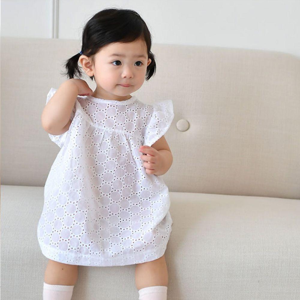 리본화이트원피스FS(0-18개월)300018 유아원피스 아기옷 유아옷 신생아옷 돌복 유아외출복 아기치마 아기원피스 엠케이