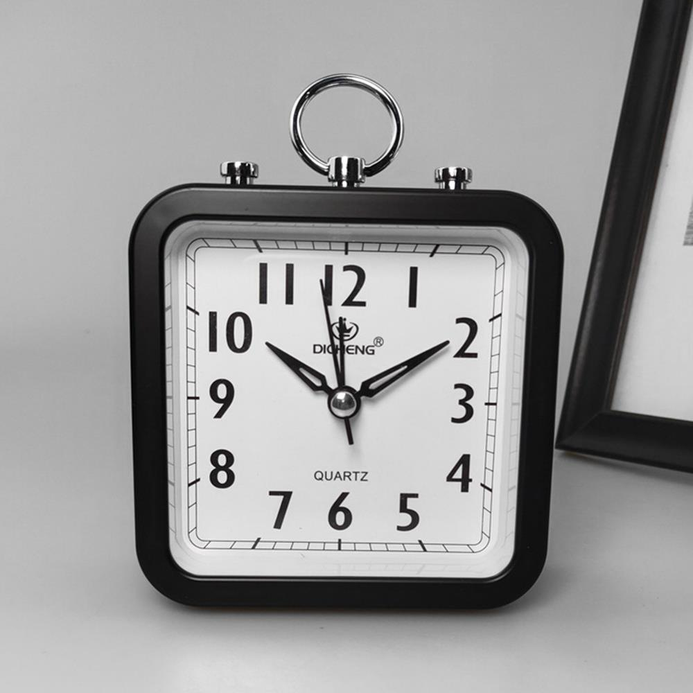 무소음 탁상시계 사각형 알람시계 침실시계 책상시계 인테리어탁상시계 탁상시계 알람탁상시계 생활용품 책상시계