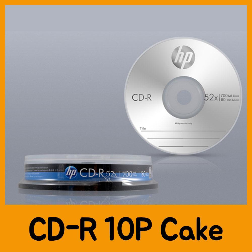 HP CD-R 10P Cake CD 공CD 씨디 공씨디 저장용품 컴퓨터저장용품 저장