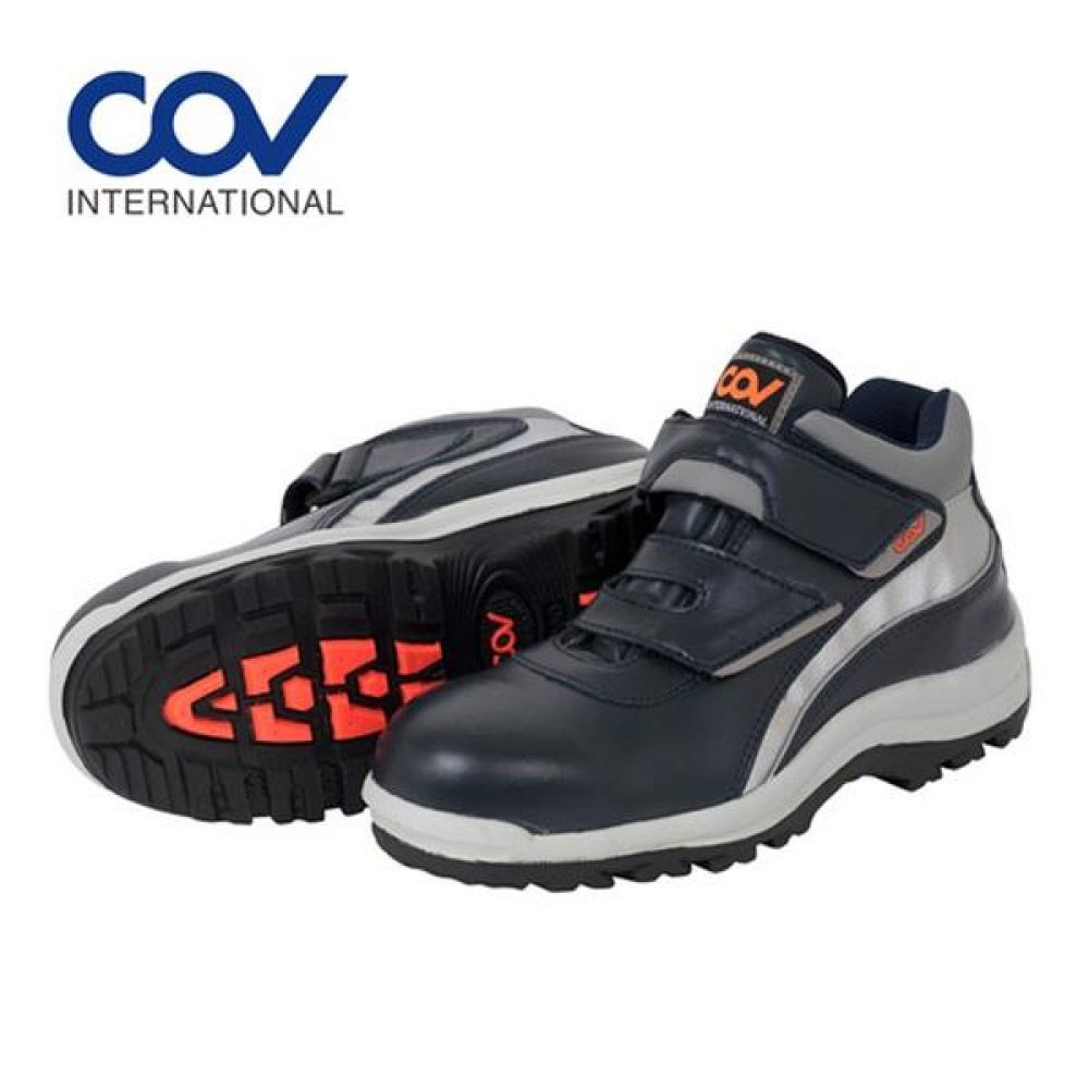 코브 COV-501 찍찍이 5in 보통작업용 단화 안전화 안전화 COV 코브 가죽안전화 찍찍이안전화 찍찍이작업화 현장화