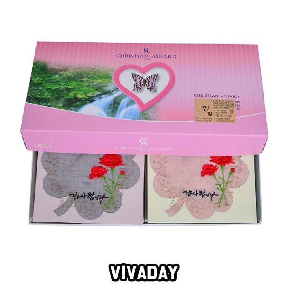 VIVADAY-SC43 카네이션 면 손수건 1매임의배송 손수건 나염손수건 여성손수건 신사손수건 남성손수건 순면손수건 가제손수건 고급손수건