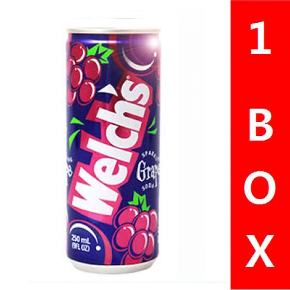 농심)웰치스 (포도) 250ml 1박스(30캔) 음료 여름 탄산 과일 비타민 대량 세일 판매 음료 웰치스 포도음료