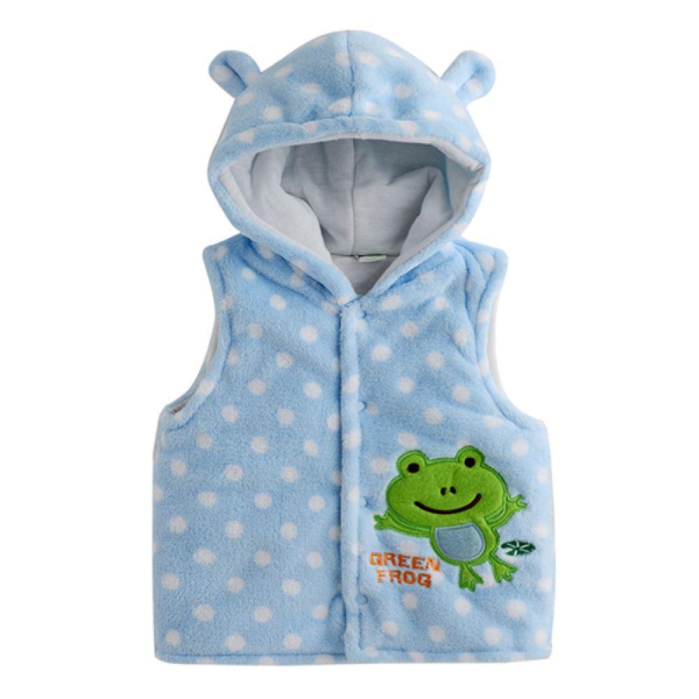 개구리 캐릭터 유아 조끼(6-12개월) 202408 수면조끼 아기조끼 신생아조끼 조끼 엠케이 조이멀티