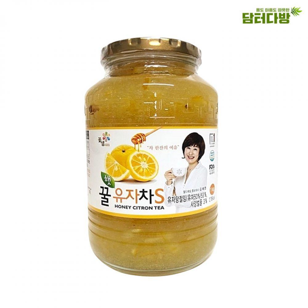 꽃샘 꿀유자차S 1kg 꽃샘 가성비좋은 유자차 꿀유자차S 맛있는 누구나좋아하는 아이들이좋아하는 겨울차