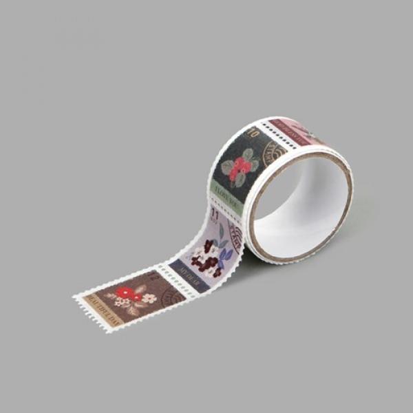 몽동닷컴 Masking tape stamp - 08 Flower 테이프 마스킹테이프 종이테이프 종이마스킹테이프 데코 데코레이션 리폼 데코스티커 스티커 꾸미기 포인트 데일리라이크 디자인문구