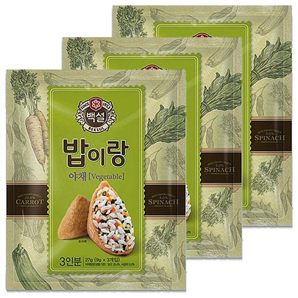 CJ)밥이랑야채 27g x 5개 반찬 뿌려 비빔 밥 간식