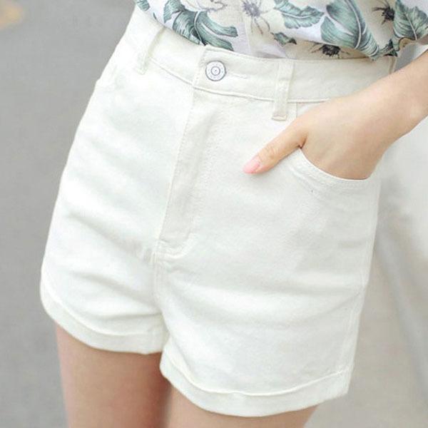 몽동닷컴 여자여자한 롤링스 청반바지 여성반바지 데님반바지 여성바지 반바지 패션파지