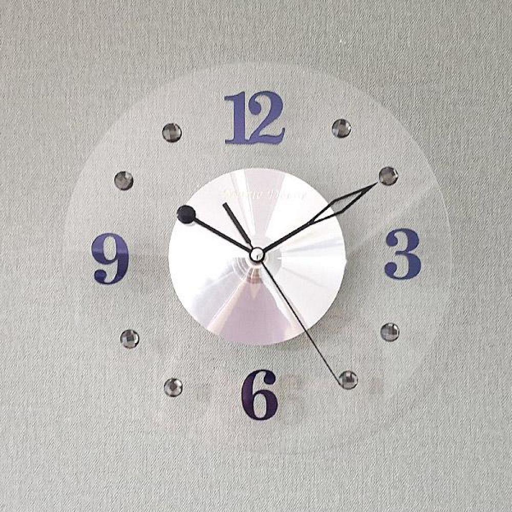투명 무소음 벽시계 (그레이) 벽시계 벽걸이시계 인테리어벽시계 예쁜벽시계 인테리어소품