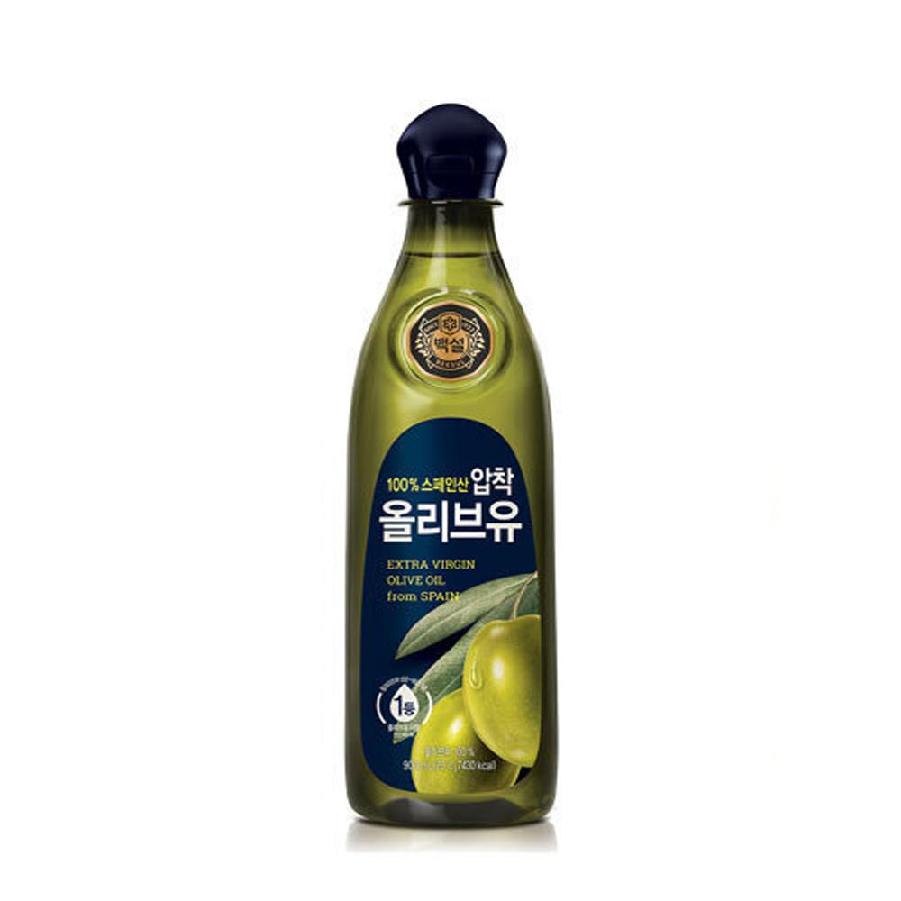CJ백설 올리브유 0.9L 튀김 부침 기름 식용유 올리브유 식용유 튀김기름 오일 튀김유