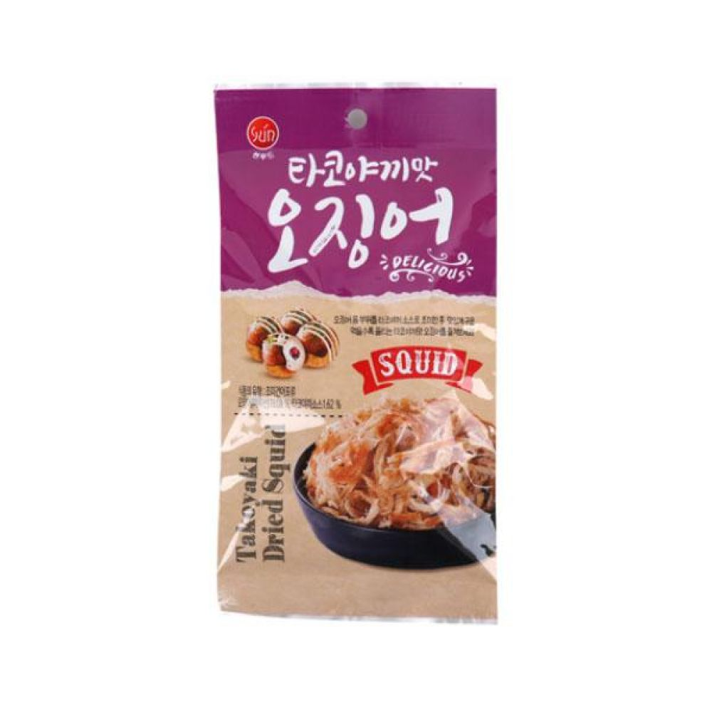 썬푸드)타코야끼맛 오징어 20g x 10개 과자 스낵 군것질 박스단위 도매