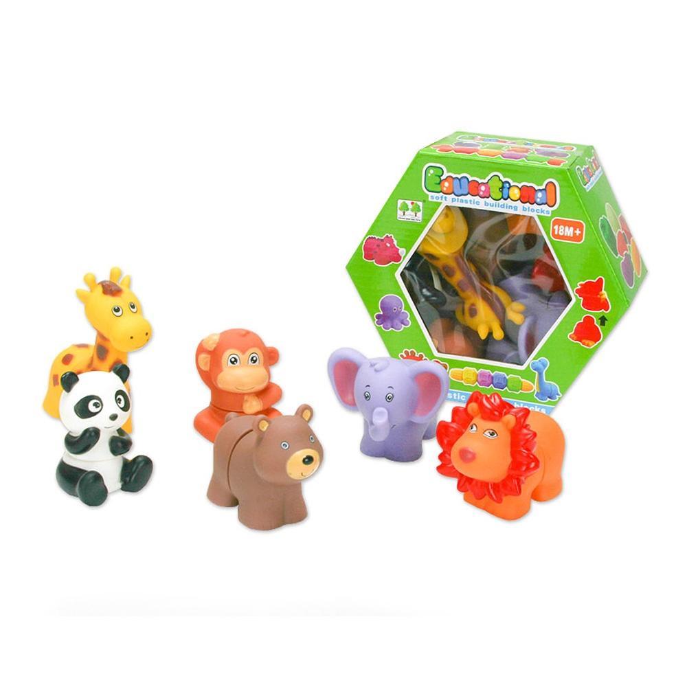 2살 2세 유아 장난감 소프트 동물 농장 블록 놀이 퍼즐 블록 블럭 장난감 유아블럭