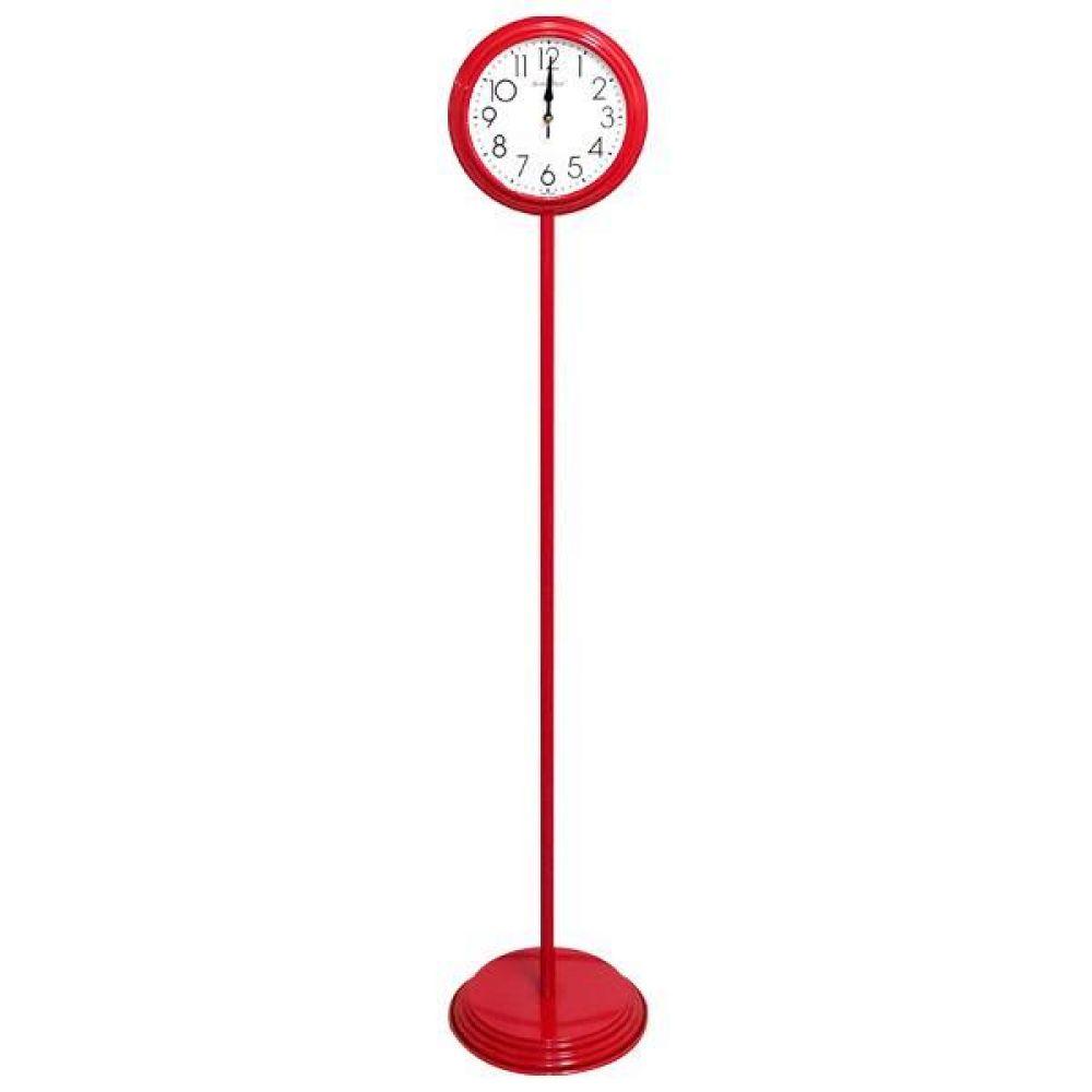 GB6158 무소음 메탈 스탠드시계 레드 제조한국 스탠드시계 인테리어시계 무소음시계 플로어시계 거실시계 장식시계 메탈시계 스틸시계 디자인시계 홈데코시계 집들이선물 오피스시계 인테리어소품