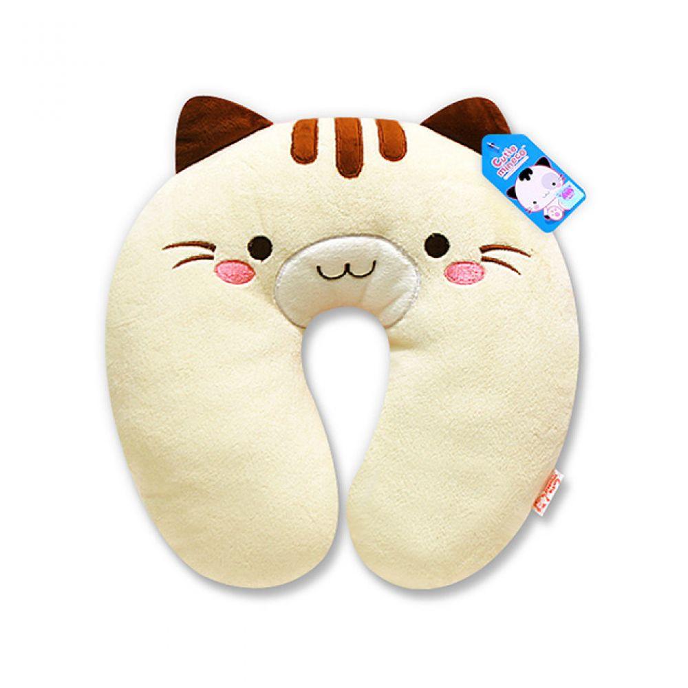 미네코 목쿠션-핑크 캐릭터인형 인형선물 봉제인형 귀여운인형 미네코 쿠션 캐릭터쿠션 목쿠션 고양이 고양이캐릭터