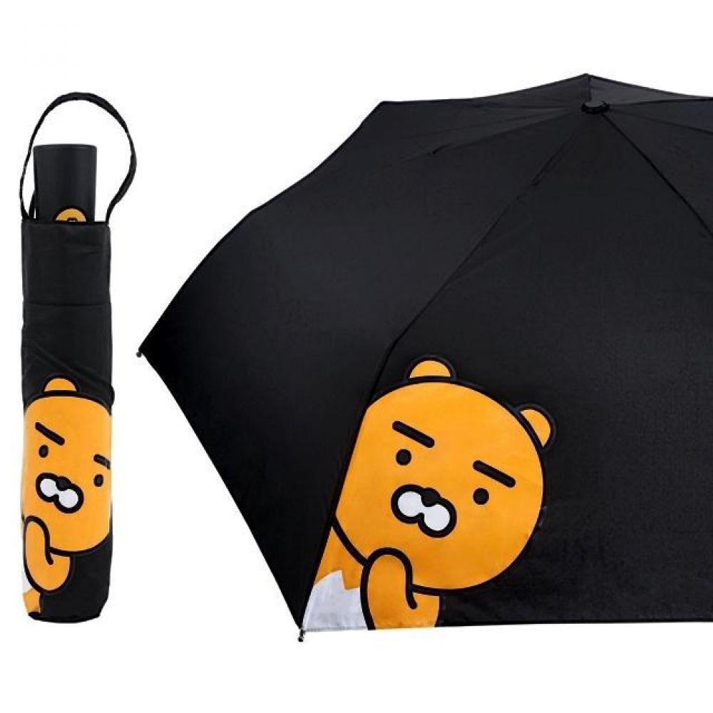 카카오 라이언 완자 55cm 헬로 우산 3단 완전자동 캐릭터 캐릭터상품 캐릭터잡화 생활잡화 잡화