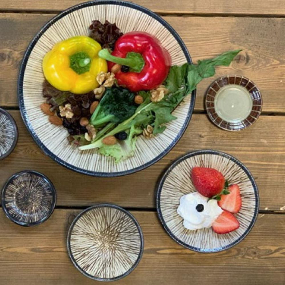 쇼쿠우소스볼브라운 5P 뷔페접시 면기 그릇 접시 면기 볼 주방용품 뷔페접시 그릇