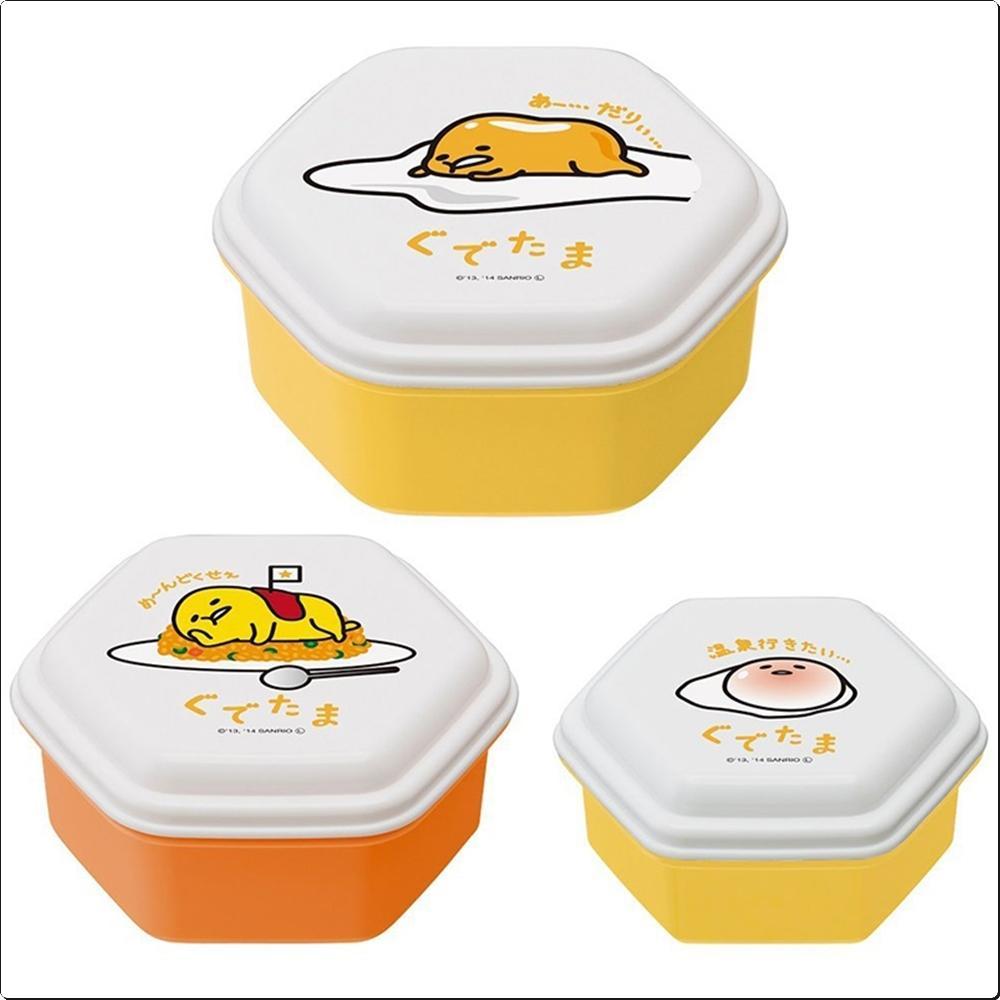 구데타마 돔형 씰 보존용기 3종 (일)(295171) 캐릭터 캐릭터상품 생활잡화 잡화 유아용품