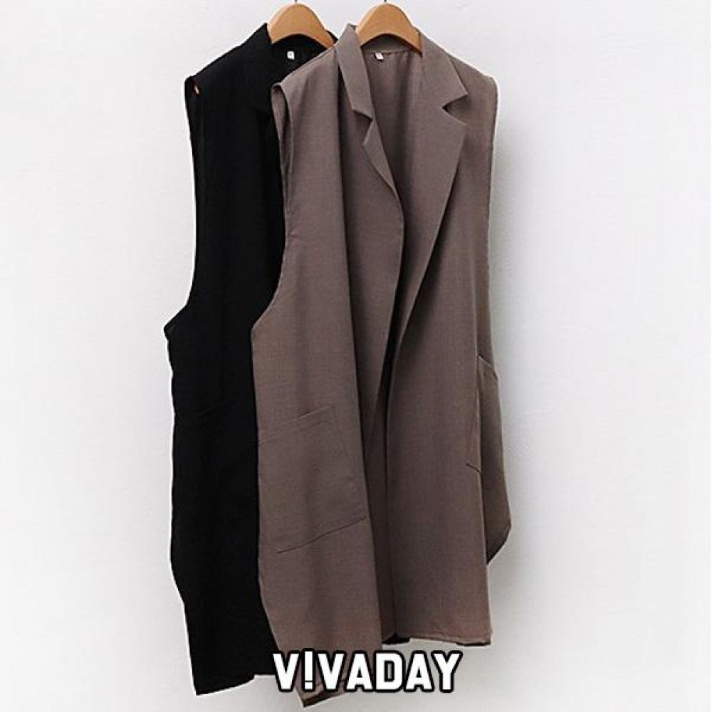 DO-RB02 사이드버튼 롱베스트 베스트 롱베스트 여성옷 여자옷 빅사이즈 오버사이즈 빅사이즈조끼