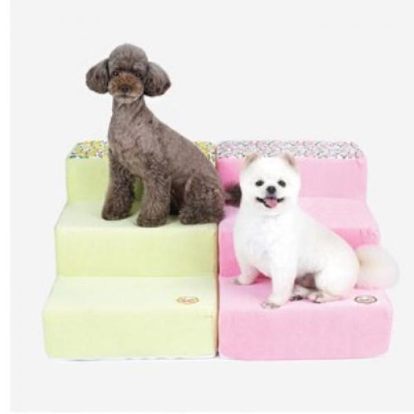 패리스독 레몬 프린트 스텝 - 핑크(39cm) 애완용품