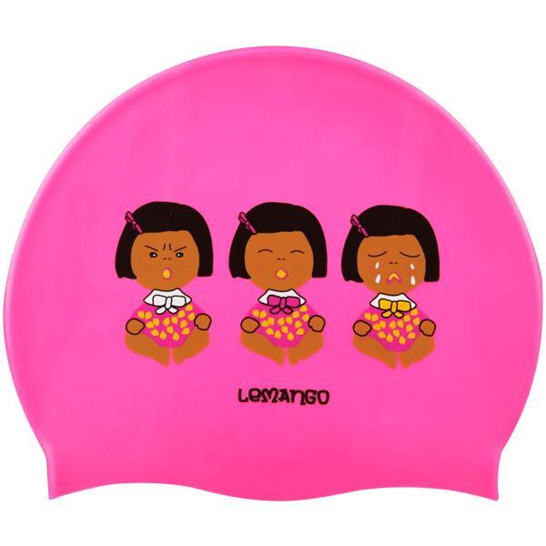 Monnani-Pearl Pink르망고 실리콘수모 수영모자 수영용품 수영모 수중운동용품 디자인수영모