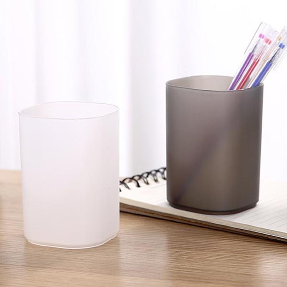 반투명 사각연필꽂이 화이트 필기구정리 책상정리용품 문구수납 연필꽂이 팬홀더 다용도함 문구용품