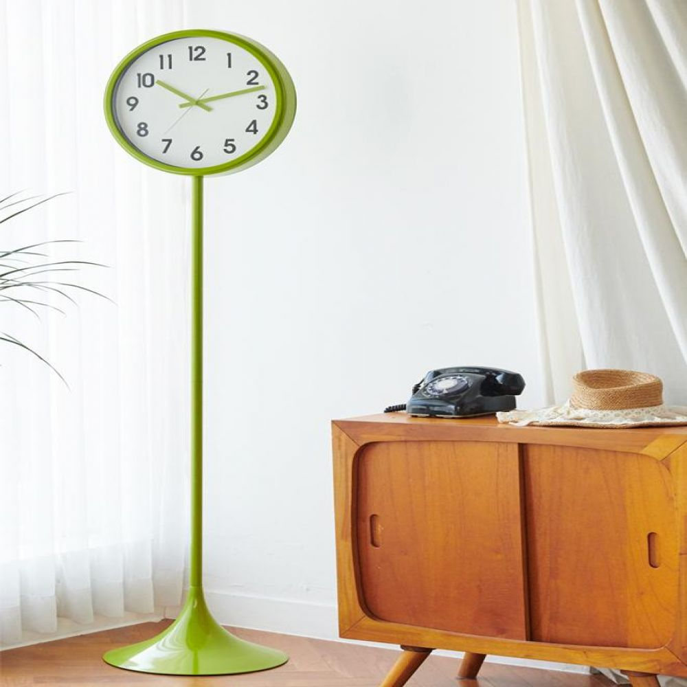 405파이 대형 모던 메탈 스탠드 시계 인테리어소품 장식소품 대형시계 카페소품 스탠드형시계