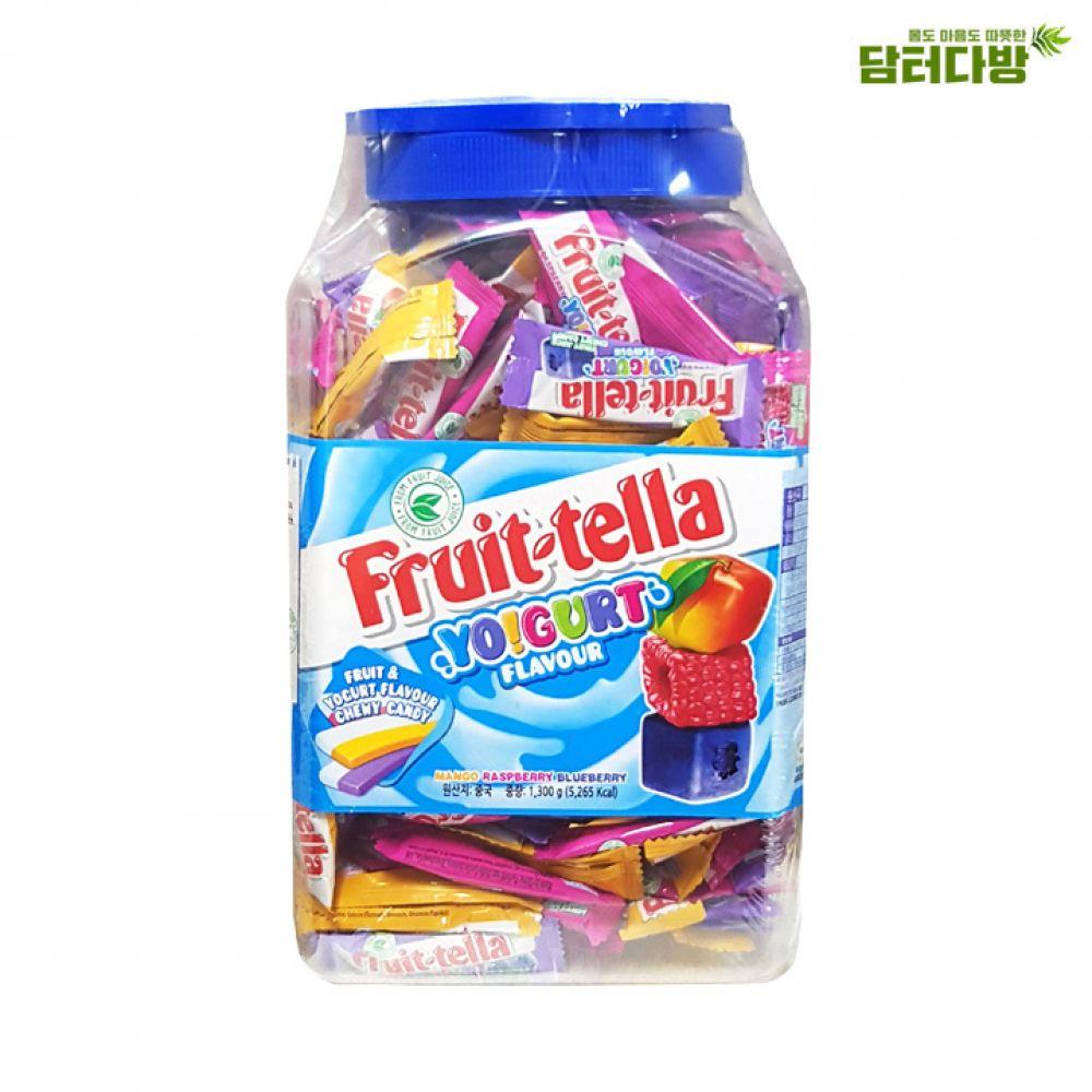 새콤달콤 3가지의 맛 후르츠텔라 요구르트향 1300g 후르츠텔라 맛있는사탕 자꾸만손이가는 아이들간식용 선물용으로도좋은 쫀득쫀득한 아이들이좋아하는 누구나좋아하는