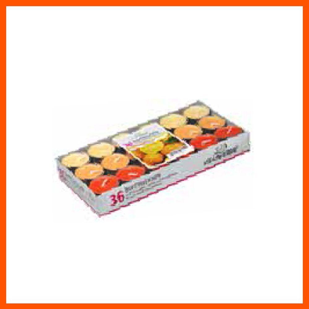 아로마 캔들 오렌지 틴형 (36개입) 캔들 디퓨저 아로마캔들 향초 홈데코 향수캔들 집들이선물 파티캔들 아로마향초 독일캔들
