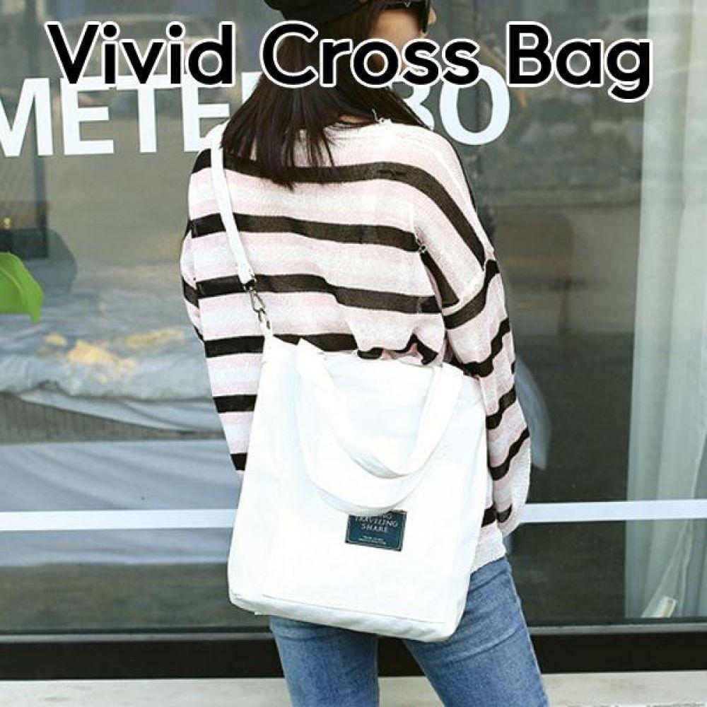 비비드 크로스백  캔버스  가방 에코백 보냉백 토드백 장바구니 시장가방
