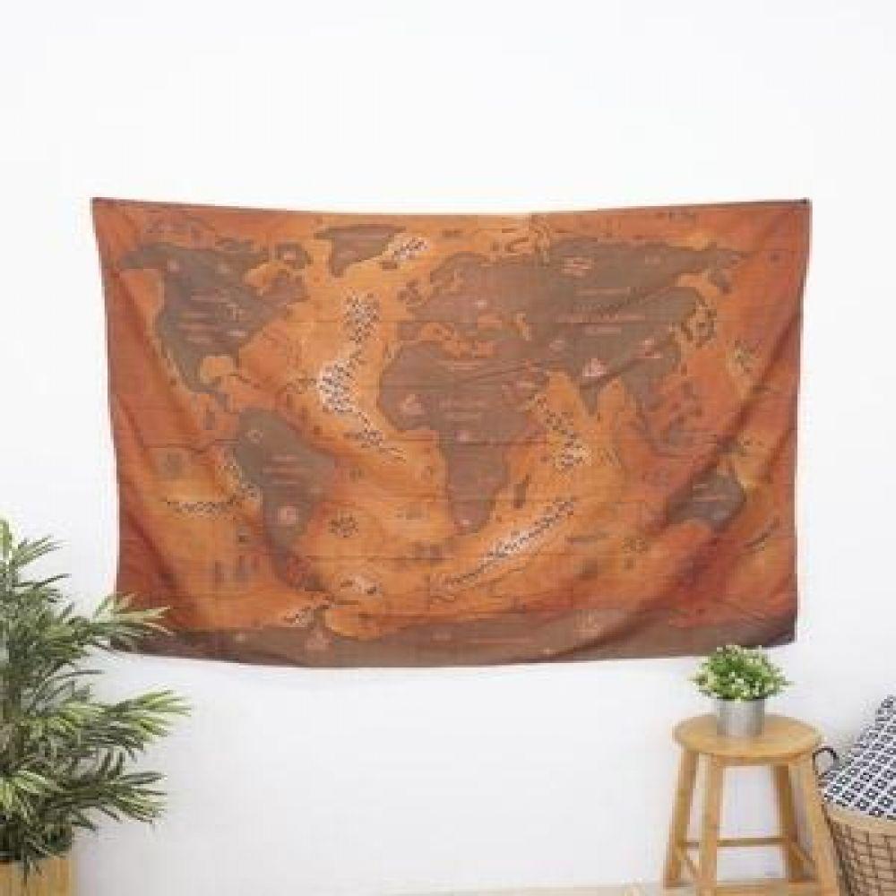 태피스트리 (브라운지도) 벽장식소품 천포스터 벽걸이소품 가리개 인테리어소품