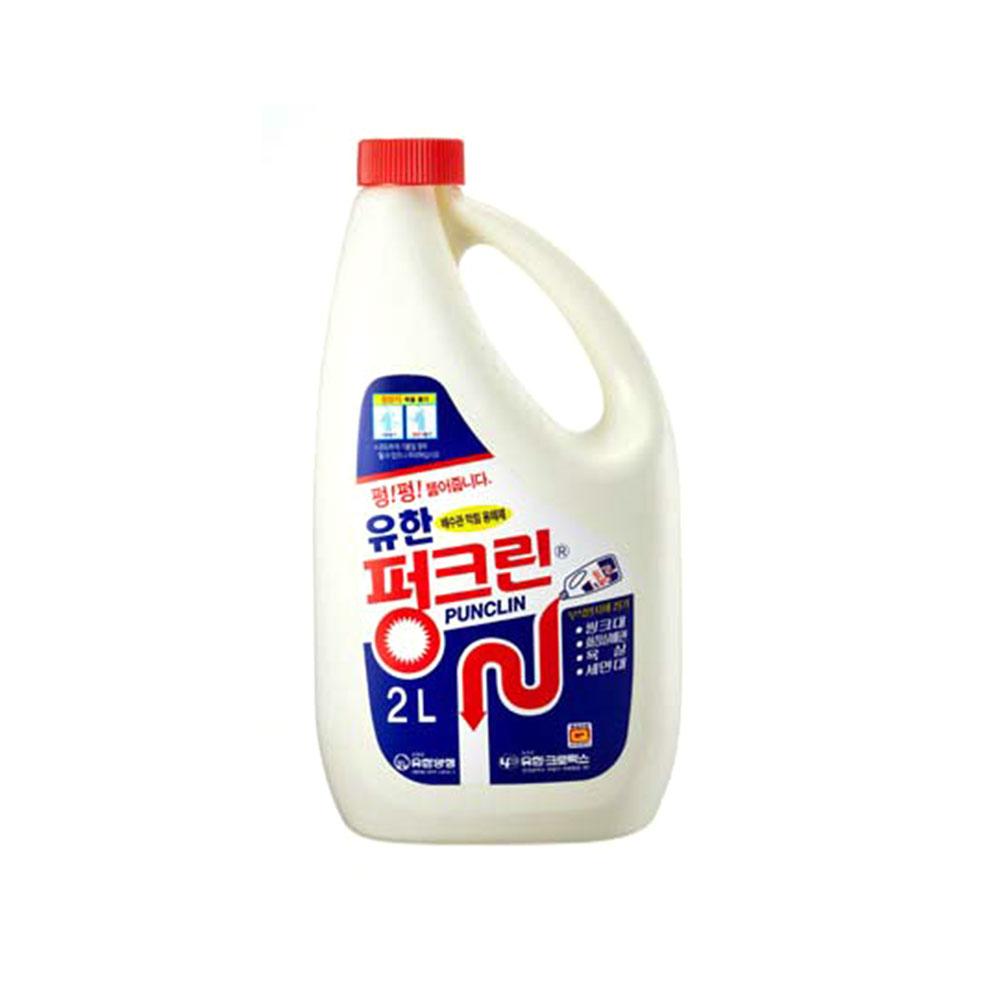 유한 펑크린 2L 배수구청소 배수관청소 배수구세정제 청소세제 청소용품 주방세제 액체세제 세탁기청소세제