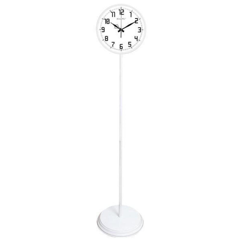 GB6161 무소음 대형 교육용 메탈 스탠드시계 화이트 스탠드시계 인테리어시계 무소음시계 대형시계 빅사이즈시계 유아동시계 교육용시계 플로어시계 stand clock wallclock 장식시계 메탈시계 시계 홈데코 집들이선물 결혼 인테리어소품