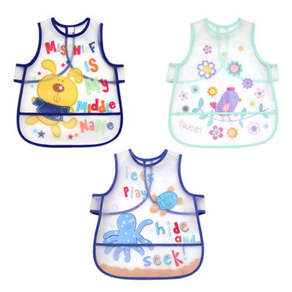 아기를 위한 실용적인 방수 턱받이 3종(0-4세) 500042 아기턱받이 방수턱받이 턱받이 이유식 유아턱받이 엠케이 조이멀티 MK