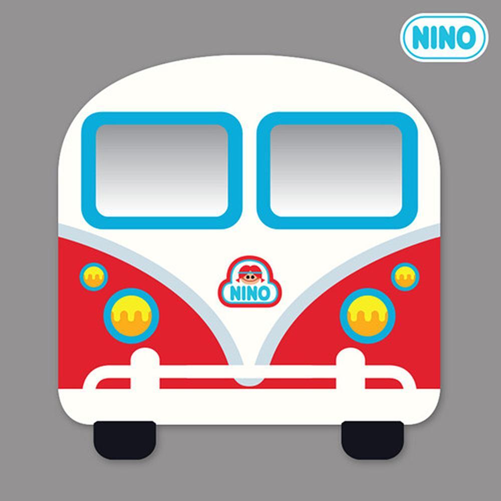 정면 아이방 안전 거울 니노 미러보드 미니버스빨강 안전거울 어린이집 유아원 인테리어소품 아이놀이