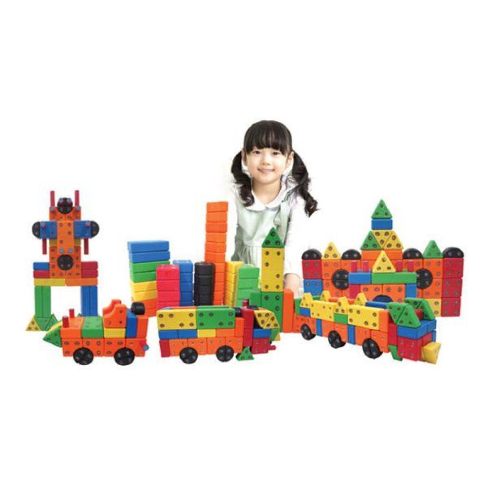 블럭 어린이 장난감 소프트 회전 자석 블록 모양 쌓기 퍼즐 블록 블럭 장난감 유아블럭