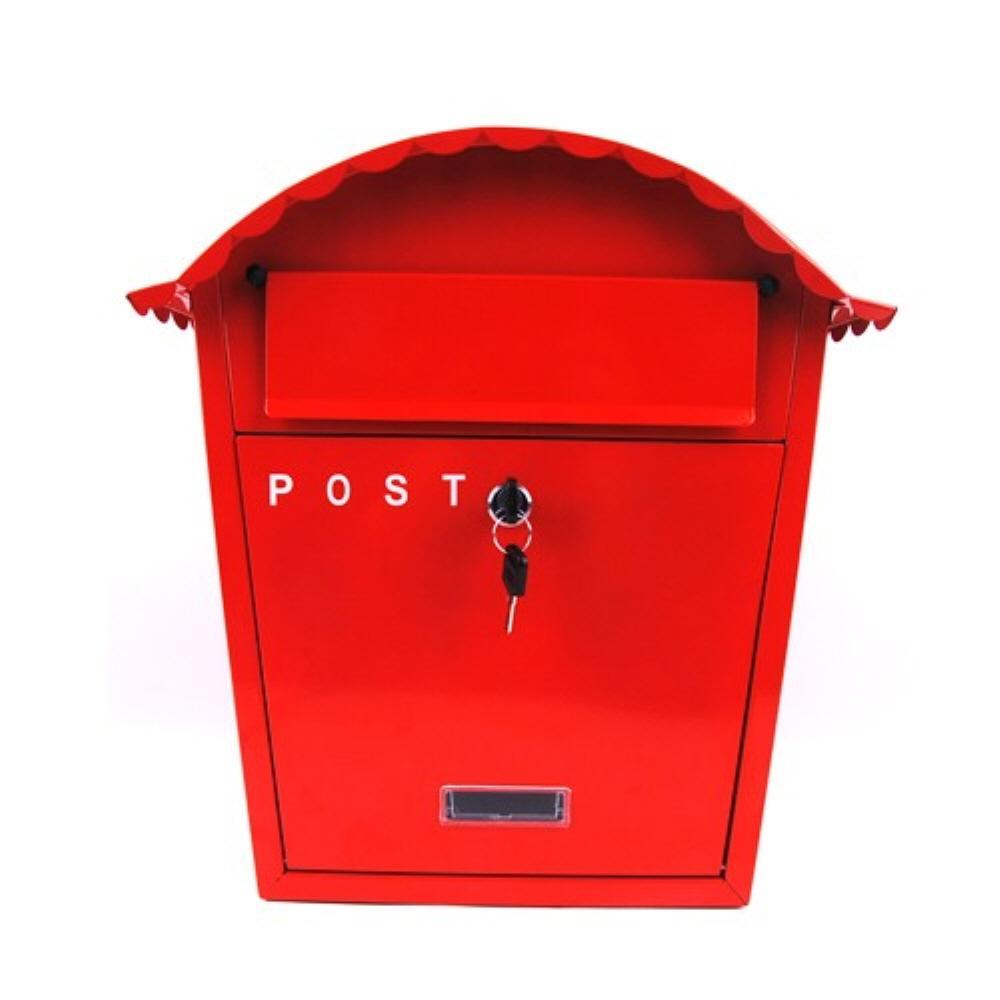 수취함 빨강 주택 벽걸이 우편함 철우체통 우편물 우편함 우체통 다세대우편함 주택우편함 우편물수취함