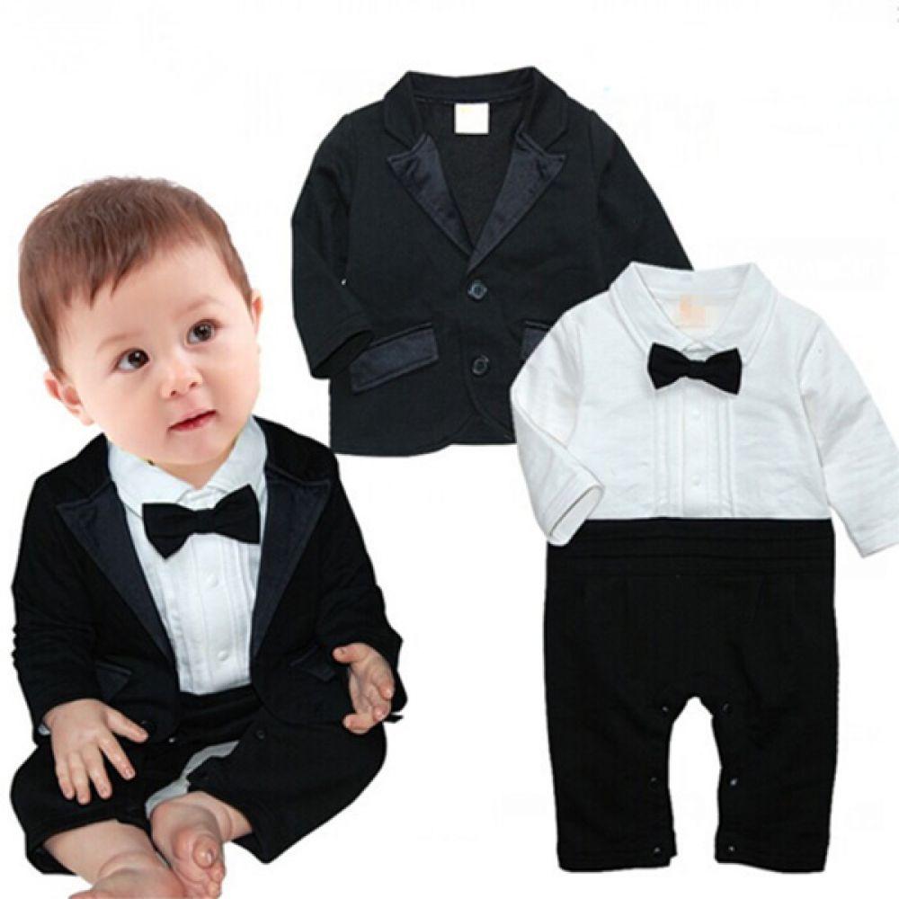 시크한 턱시도 우주복과 자켓(0-24개월) 300205 아기우주복 롬퍼 룸퍼 바디슈트 아기턱시도 백일복 아기옷 유아옷 신생아옷 유아복 돌복 아기정장