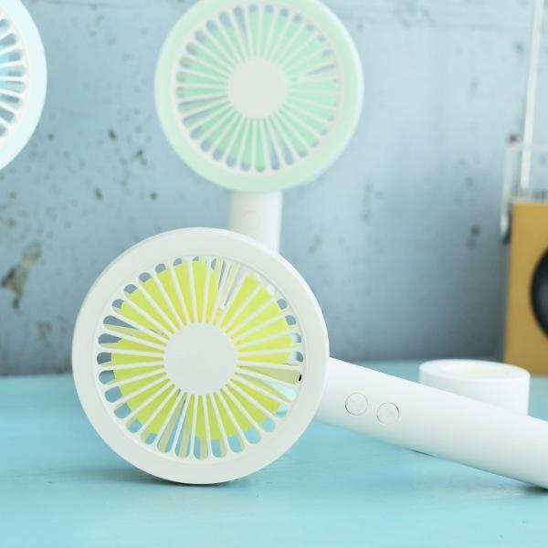 LED 원형 핸디형 저소음 선풍기(옐로)