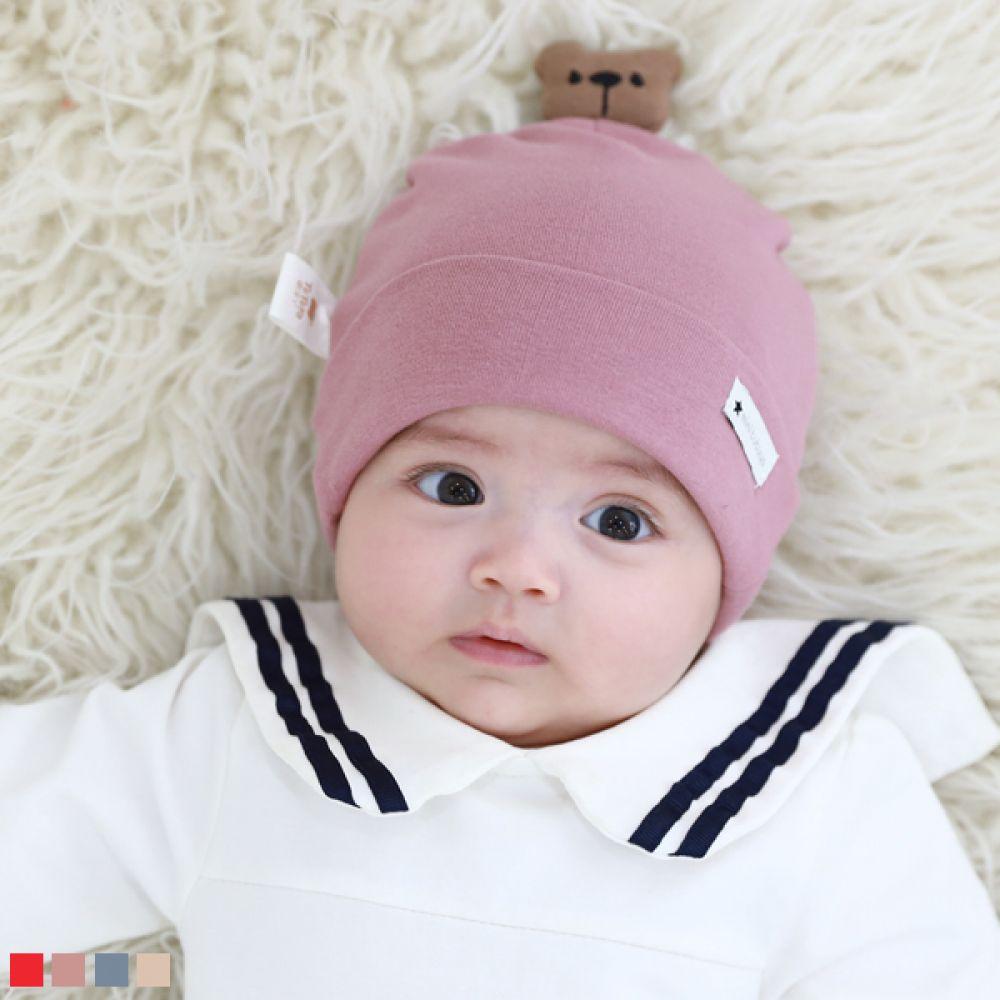 곰돌이 유아 비니(0-12개월) 509306 아기모자 유아모자 유아가을모자 유아비니 아기비니 신생아비니 신생아모자 비니 곰돌이모자 가을모자