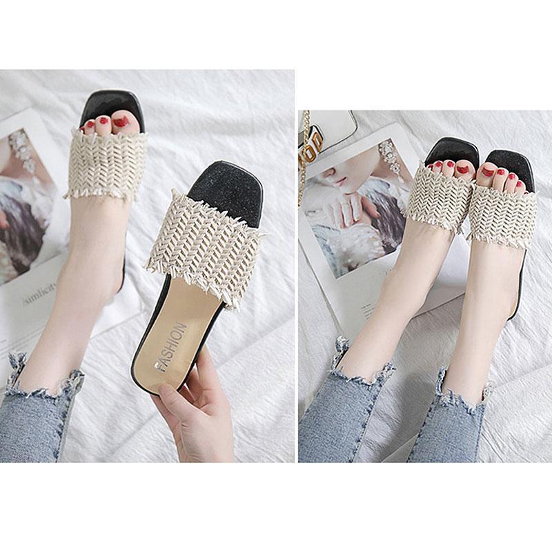 여성 라탄 스트랩 슬리퍼 아이보리 wd05216 여자신발 여성신발 패션화 패션신발 슬리퍼