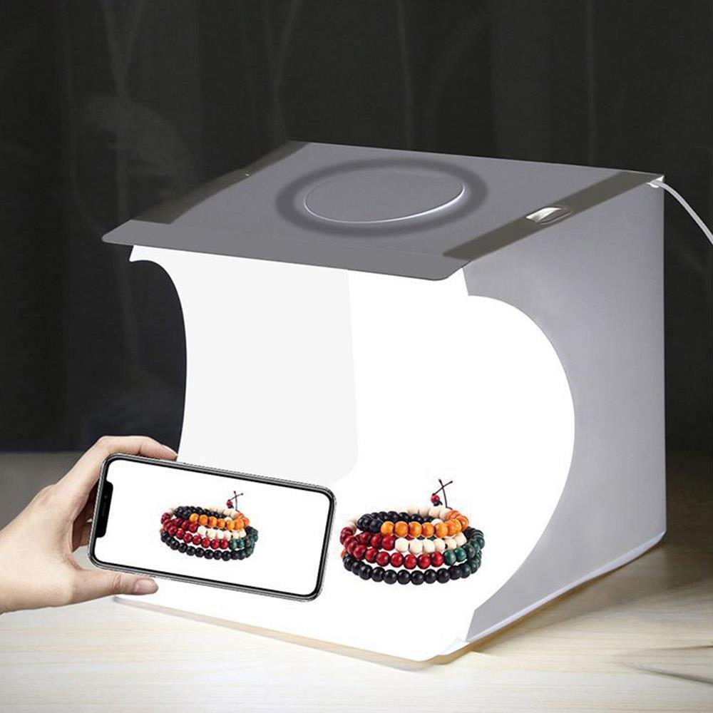 원형라이트 포토박스 LED 22x23cm 촬영배경 led미니스튜디오 촬영조명 포토박스 스튜디오