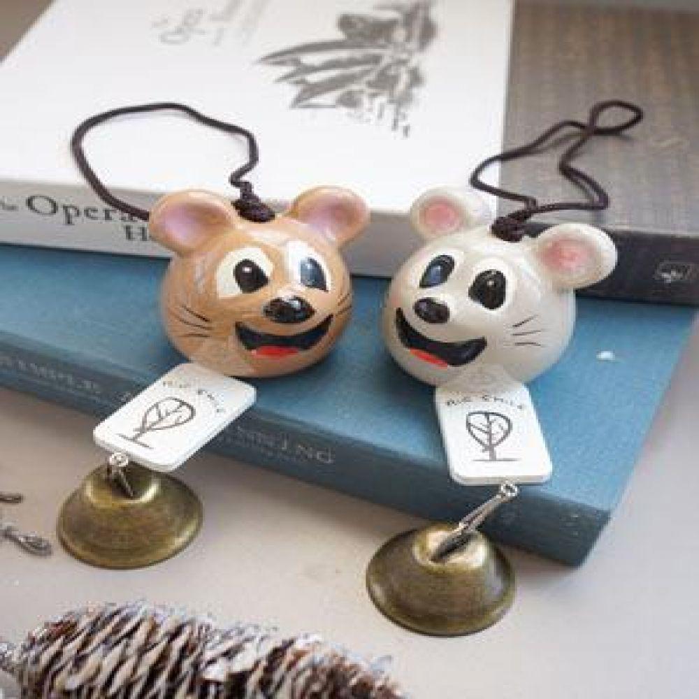 스마일 마우스 종 (2 color) 도어벨 현관종 문종 벽걸이소품 벽장식소품