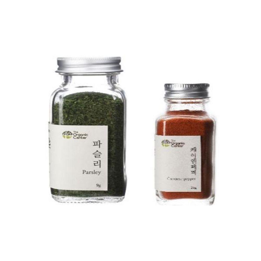 (오가닉 향신료 모음)건파슬리 30g과 케이엔페퍼 25g 건강 견과 조미료 냄새 야채