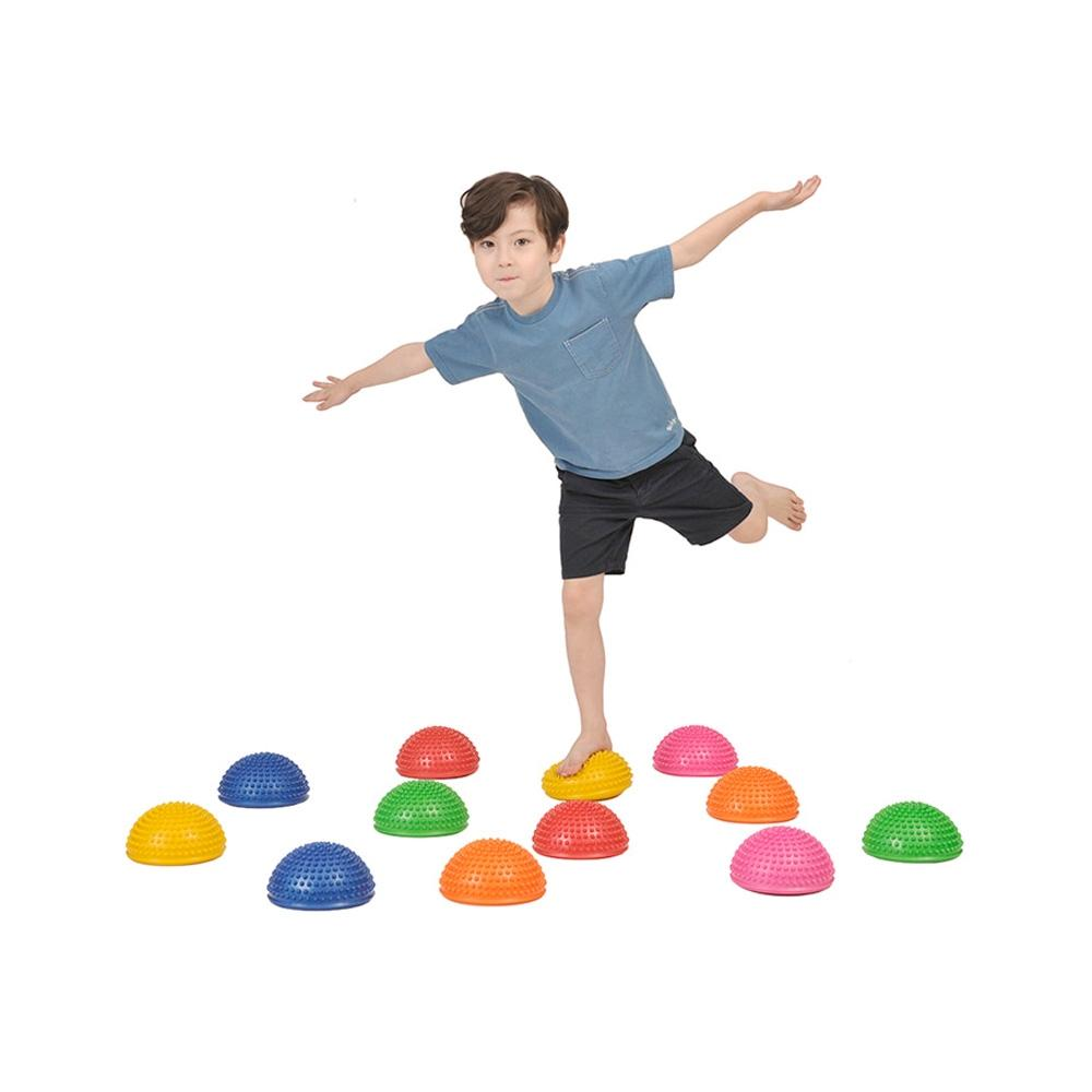 1세트 신체 놀이 유아 체육 교구 밸런스 징검다리 6개 키더스 체육교구 신체놀이 유아체육 유아체육교구